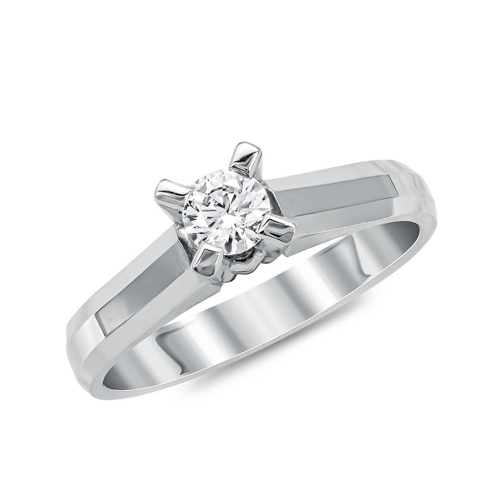 Μονόπετρο Δαχτυλίδι Κ18 με Διαμάντι Brilliant R16060