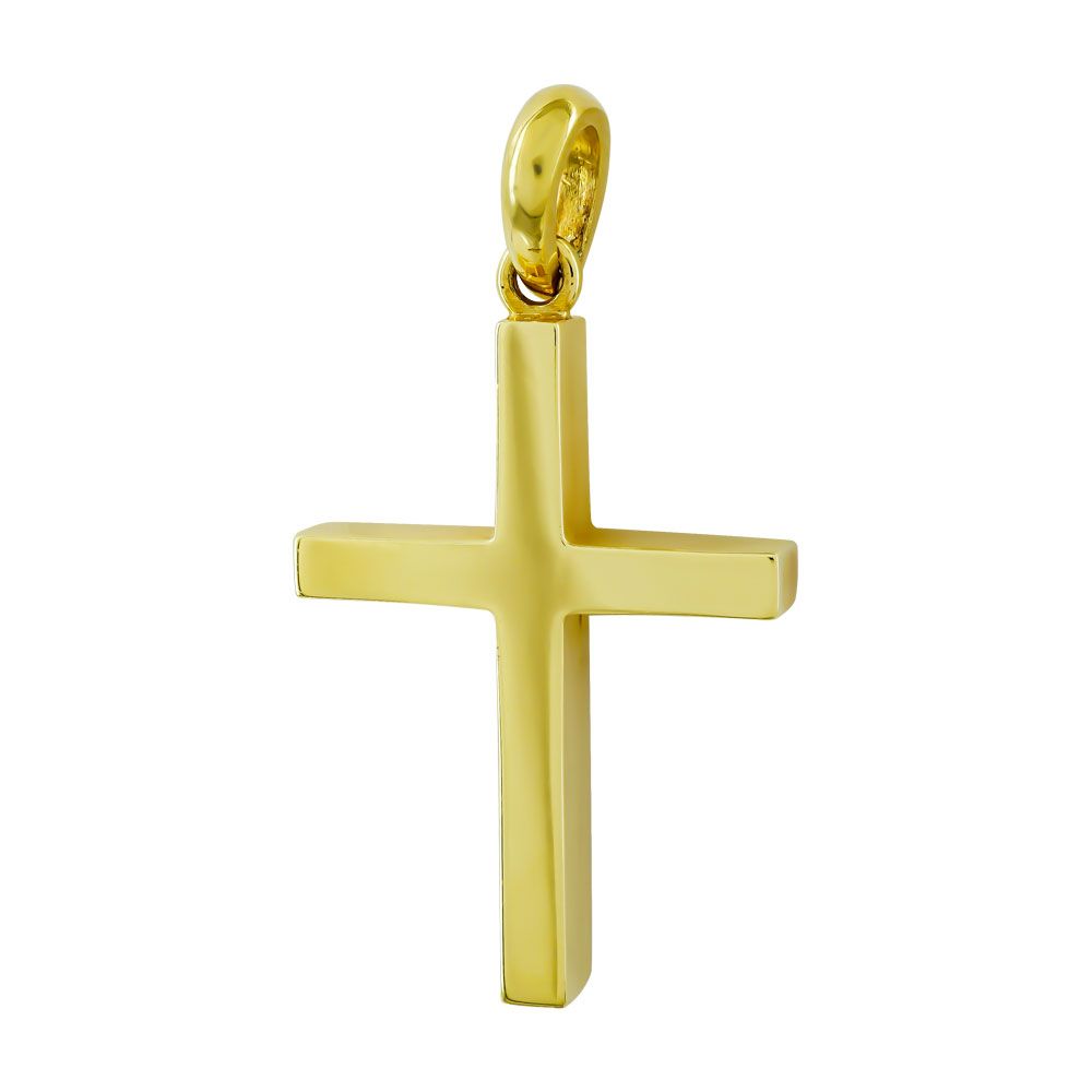 Σταυρός Βάπτισης 18Κ Κίτρινος Χρυσός Ανδρικός ST1330