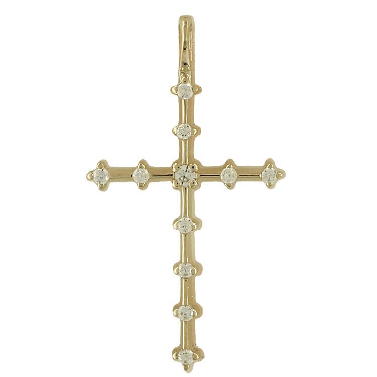 Σταυρός Βάπτισης Κ14 Κίτρινος Χρυσός Γυναικείος ST1900