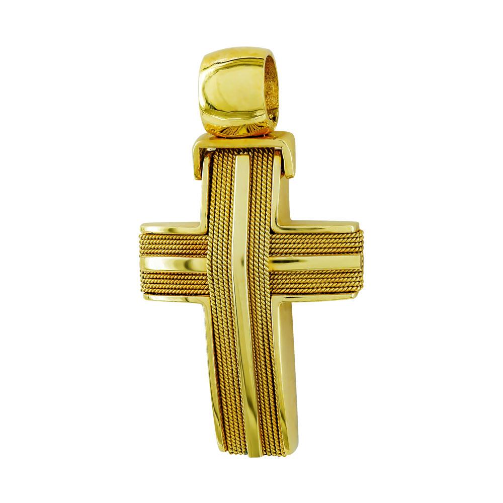 Σταυρός Βάπτισης 18Κ Κίτρινος Χρυσός Ανδρικός ST617