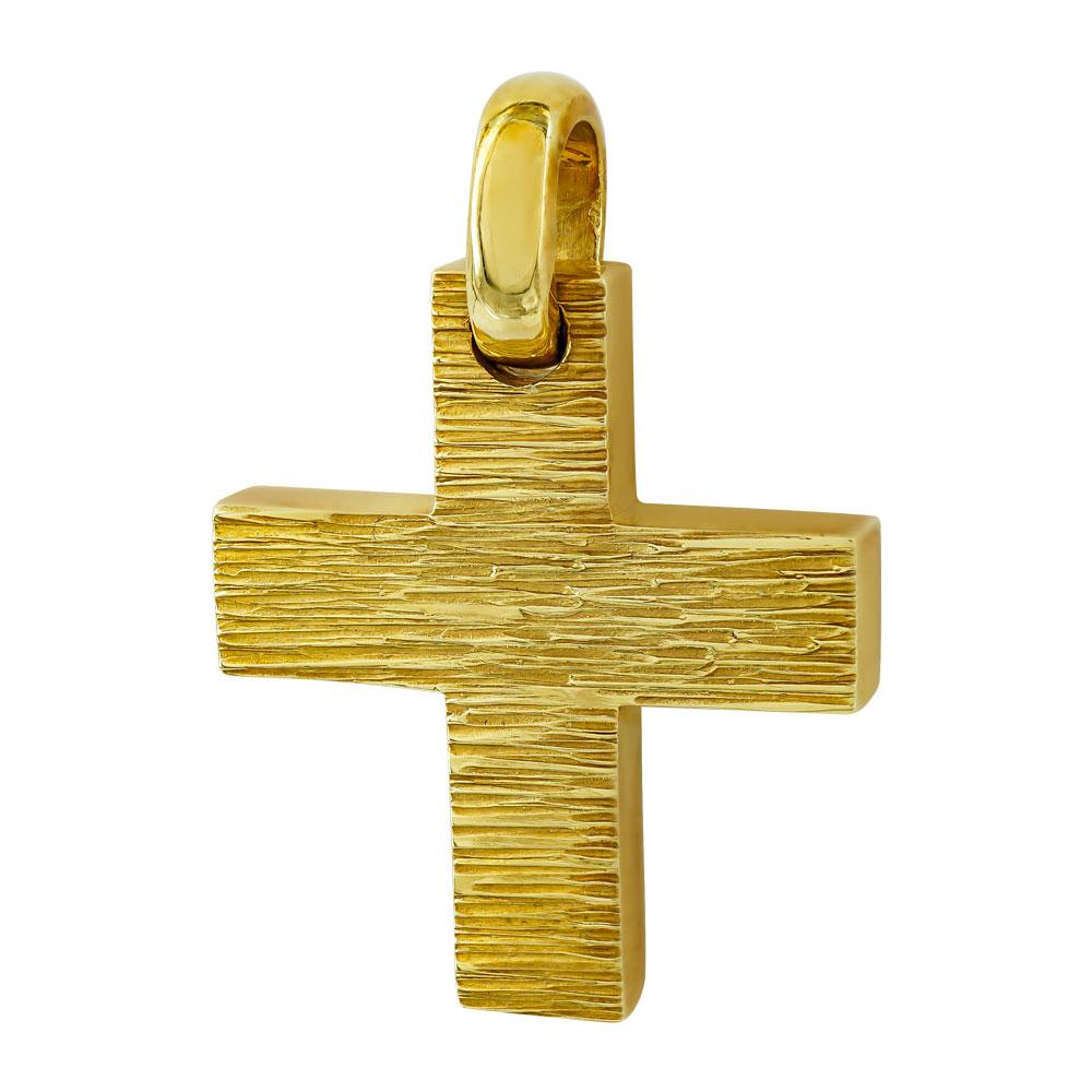 Σταυρός Βάπτισης 18Κ Κίτρινος Χρυσός Ανδρικός ST628