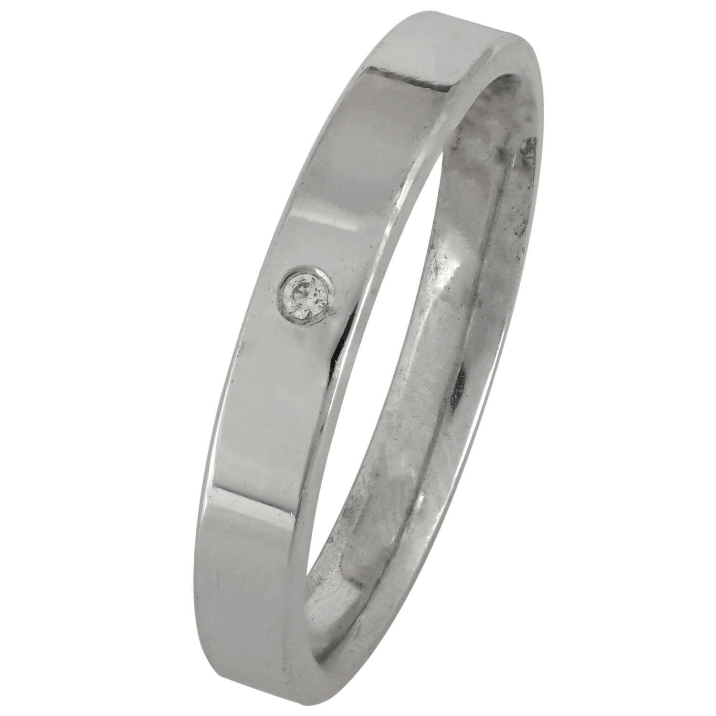 Λευκόχρυση Βέρα Γάμου με ή χωρίς Πέτρες WR169W k9 xoris_petra