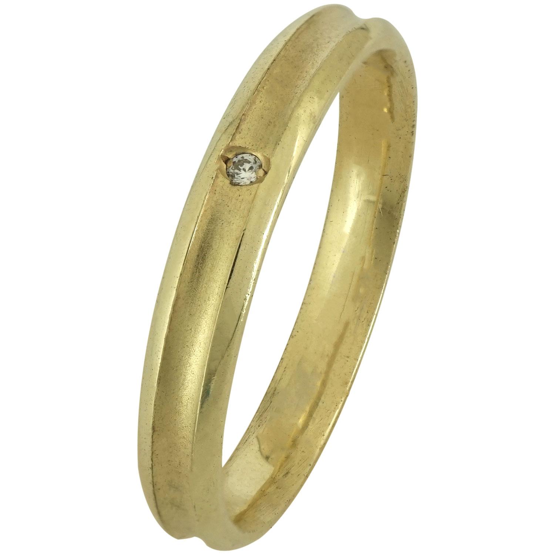 Κίτρινη Χρυσή Βέρα Γάμου με ή χωρίς Πέτρες WR172 k18 zircon
