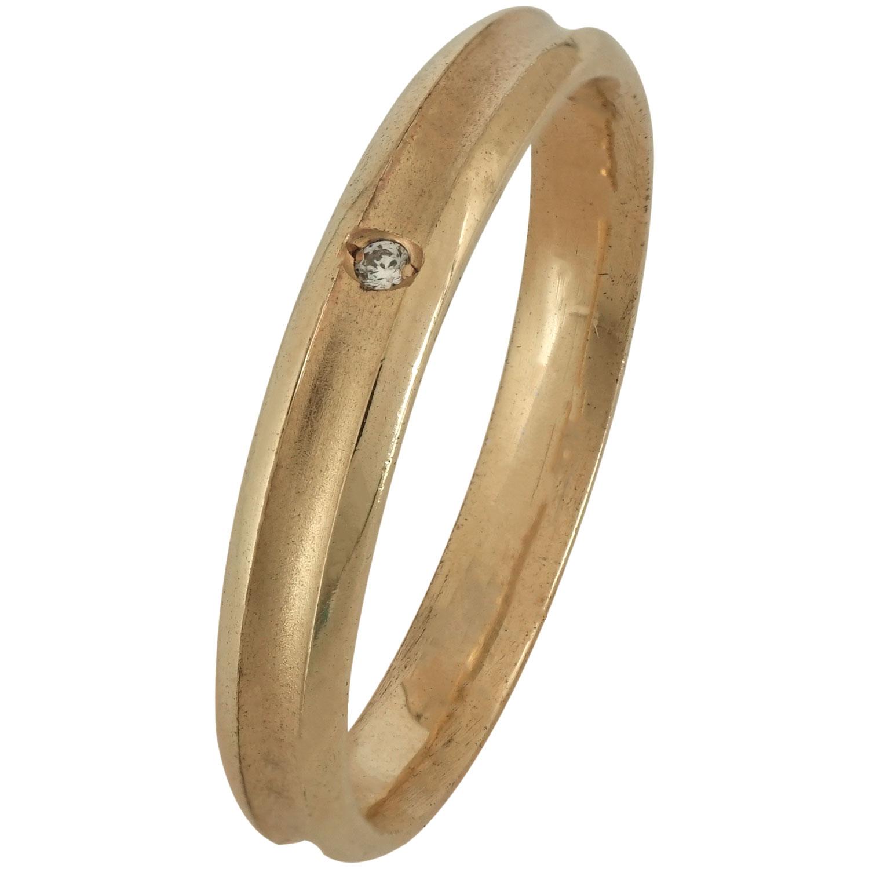 Ροζ Χρυσή Βέρα Γάμου με ή χωρίς Πέτρες WR172R k18 zircon