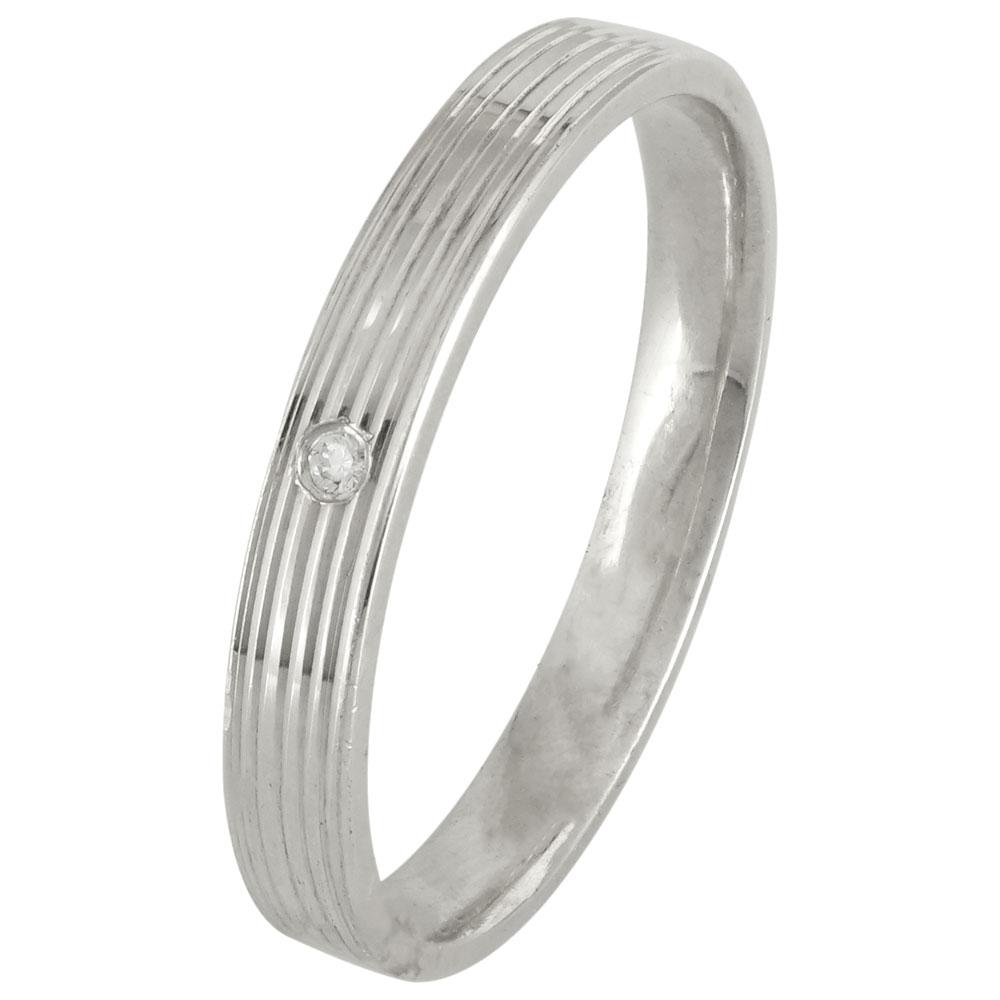 Λευκόχρυση Βέρα Γάμου με ή χωρίς Πέτρες WR177W k9 diamonds