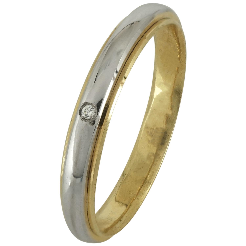 Δίχρωμη Βέρα Γάμου με ή χωρίς Πέτρες WR180D k18 xoris_petra