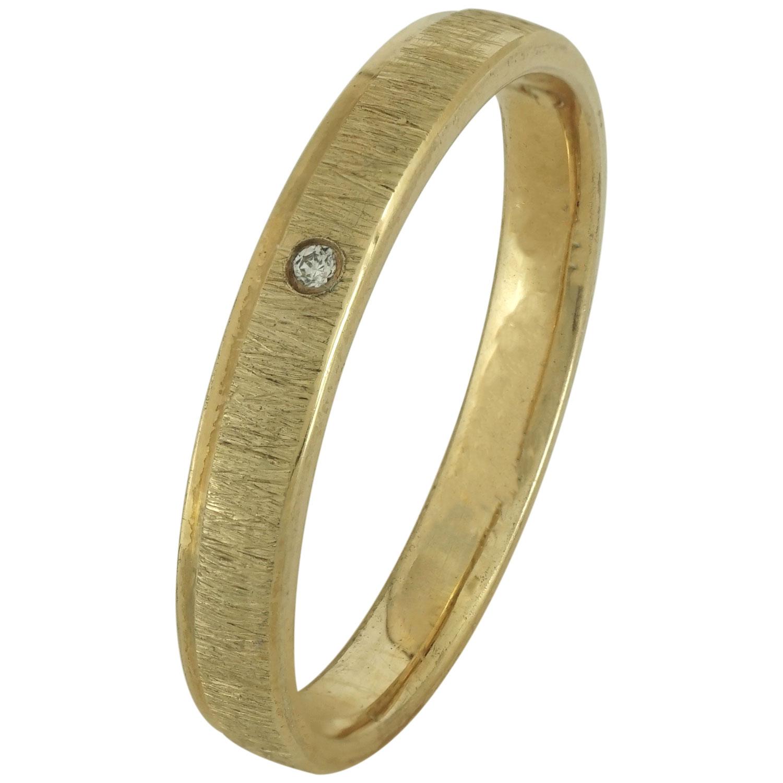 Κίτρινη Χρυσή Βέρα Γάμου με ή χωρίς Πέτρες WR183 k14 zircon