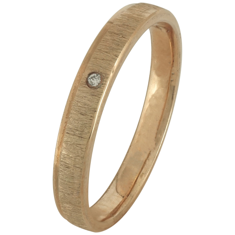 Ροζ Χρυσή Βέρα Γάμου με ή χωρίς Πέτρες WR183R k14 xoris_petra