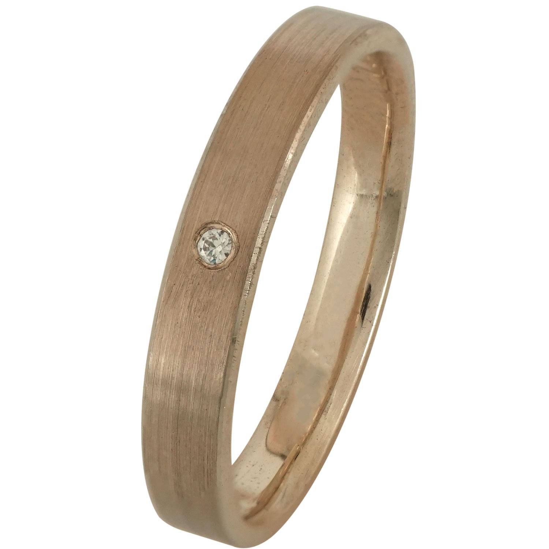Ασημένια Βέρα Γάμου Ροζ Επιχρυσωμένη με ή χωρίς Πέτρες WRS168R