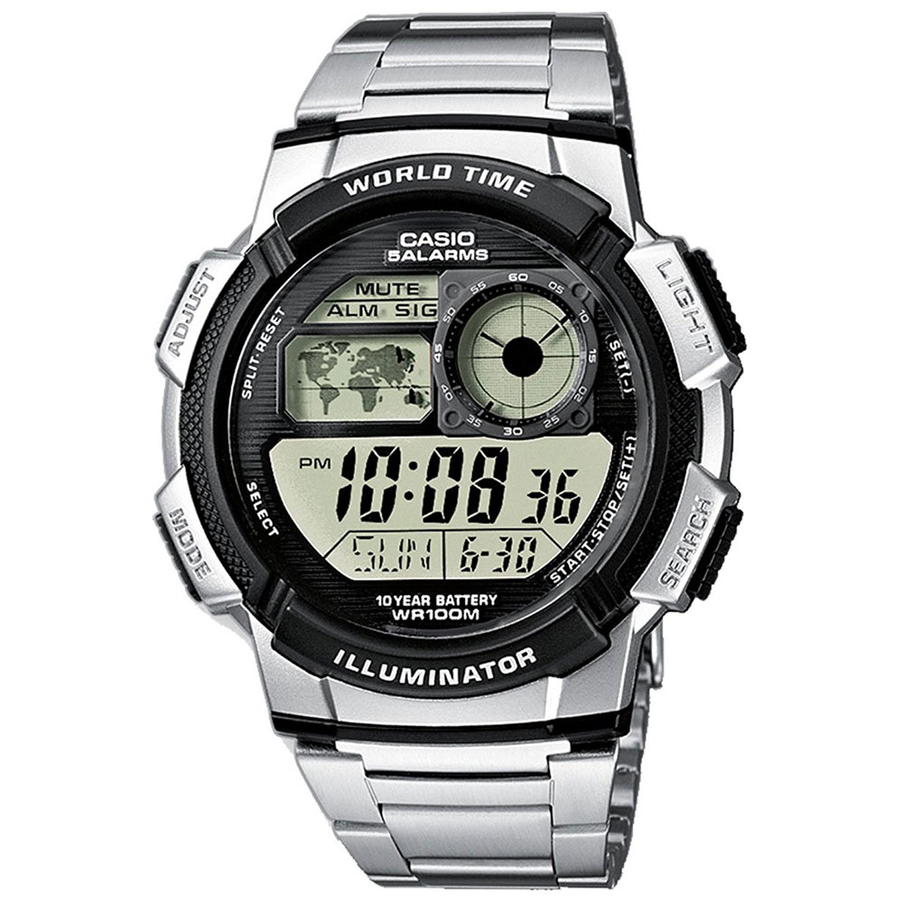 CASIO Collection Digital Stainless Steel Bracelet AE-1000WD-1AVEF
