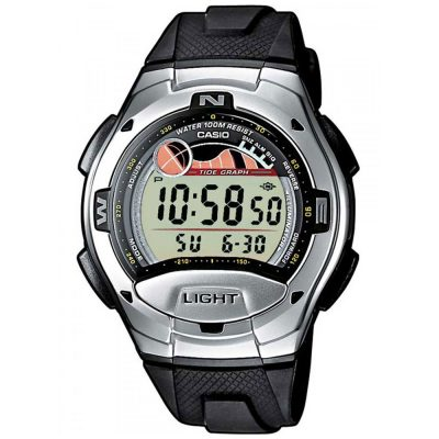 CASIO Collection Dual Time/Alarm Tide Graph W-753-1AVES