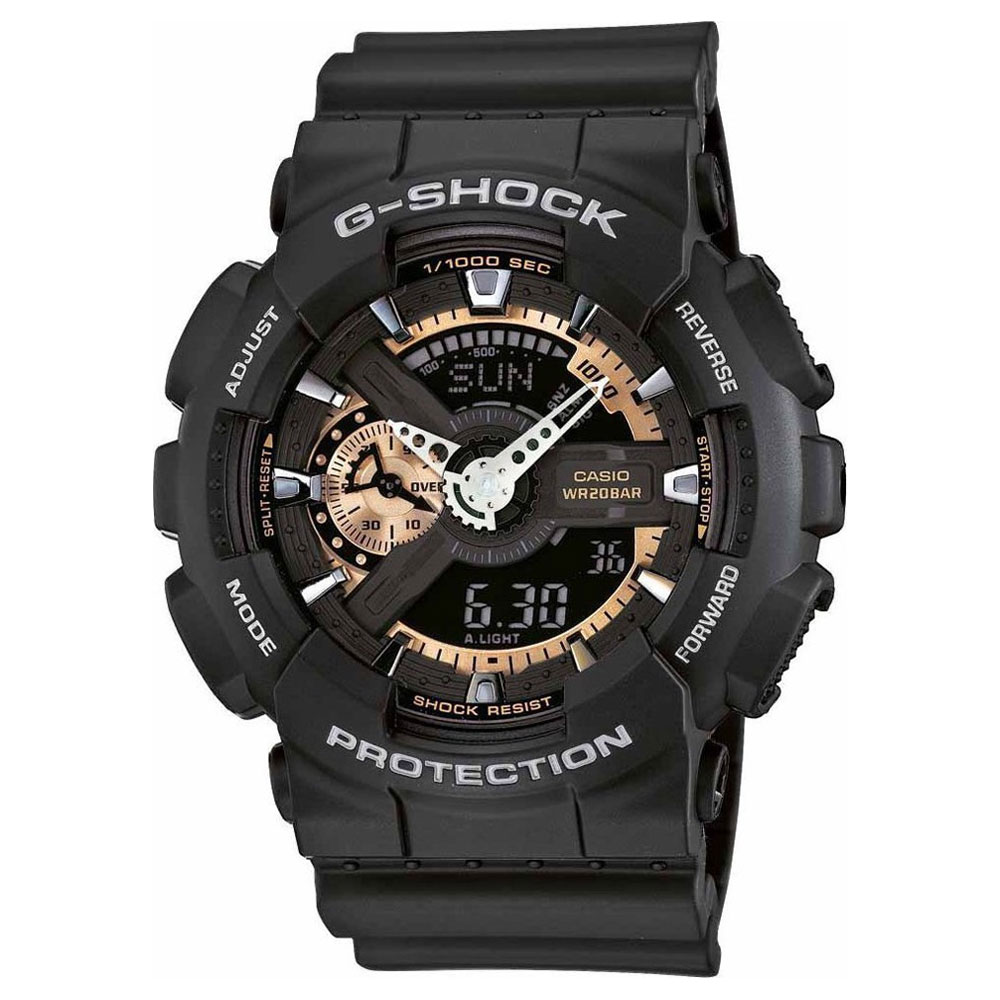 CASIO G-SHOCK Black Rubber Strap GA-110RG-1AER