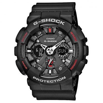 CASIO G-SHOCK Anadigi Black Rubber Strap GA-120-1AER