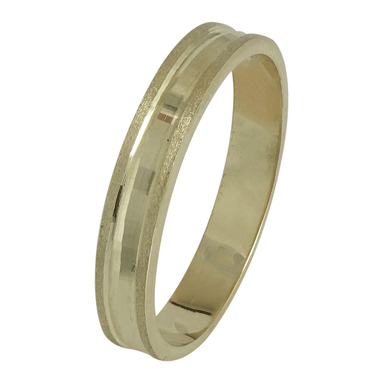 Ασημένια Βέρα Γάμου με Κίτρινο Επιχρύσωμα WRS102