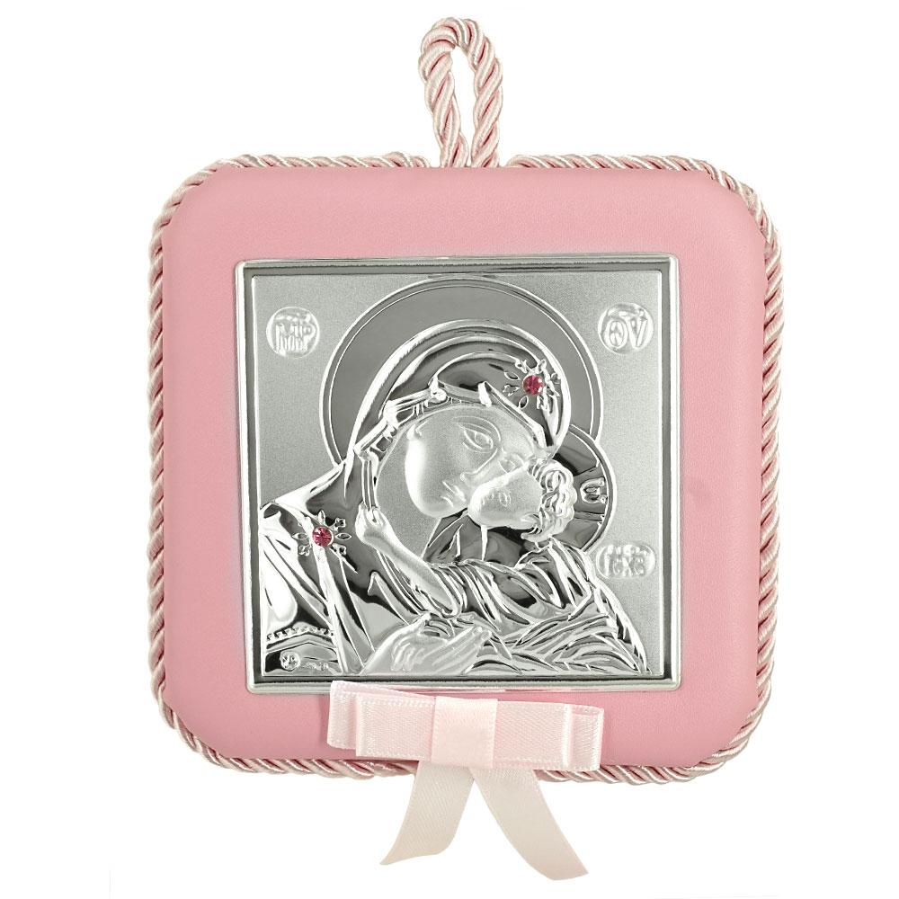 Princelino Ασημένια Παιδική Εικόνα Κούνιας για Κορίτσι Με Μουσική MA/DM605-LR