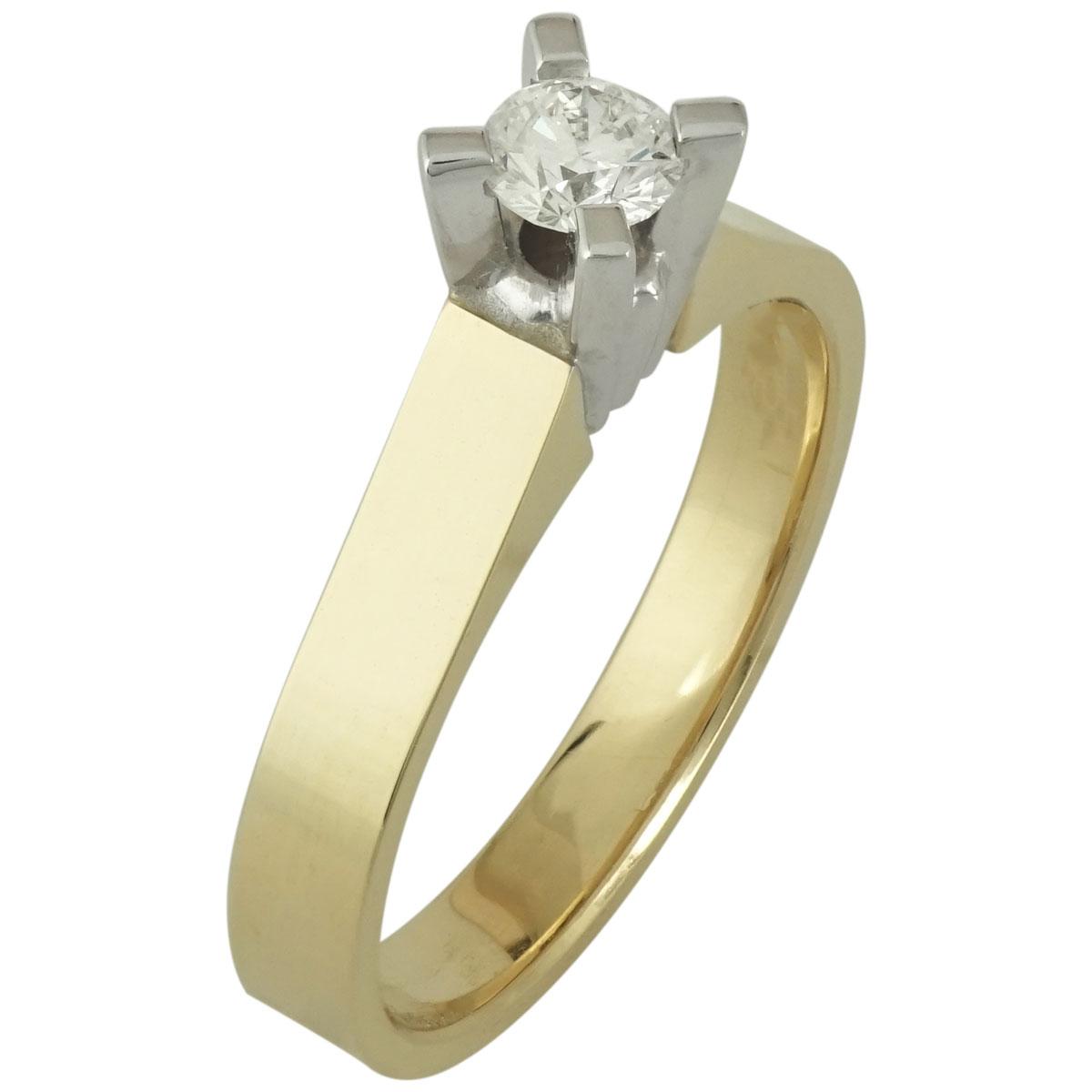 Μονόπετρο Δαχτυλίδι Κ18 με Διαμάντι Brilliant R16045