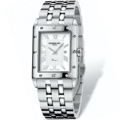 RAYMOND WEIL Men's Tango White Rectangular 5381-ST-00658