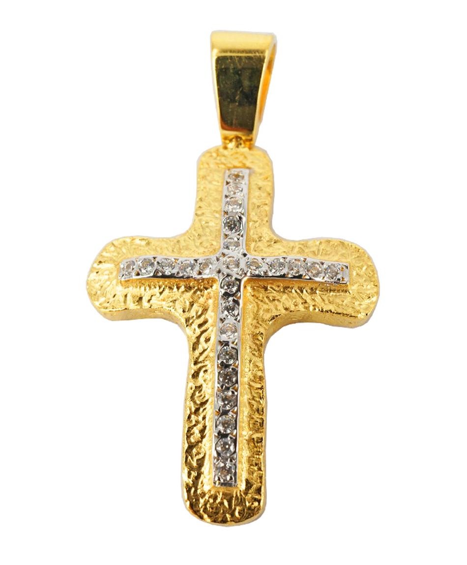 Σταυρός Βάπτισης 14Κ Κίτρινος Χρυσός Γυναικείος ST1009