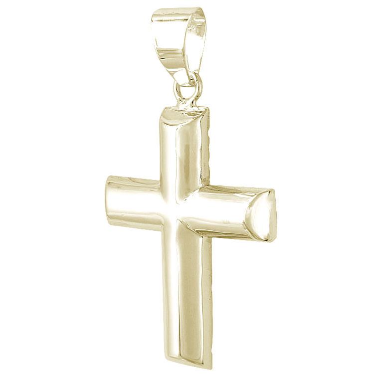 Σταυρός Βάπτισης Κ9 Κίτρινος Χρυσός Ανδρικός ST2285