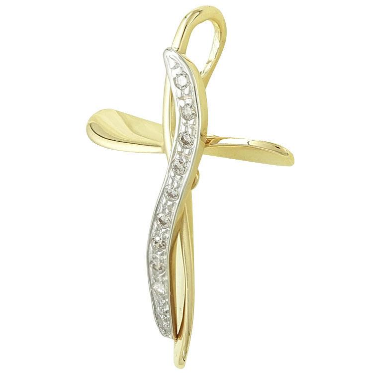Σταυρός Βάπτισης Κ14 Κίτρινος Χρυσός Γυναικείος ST2151