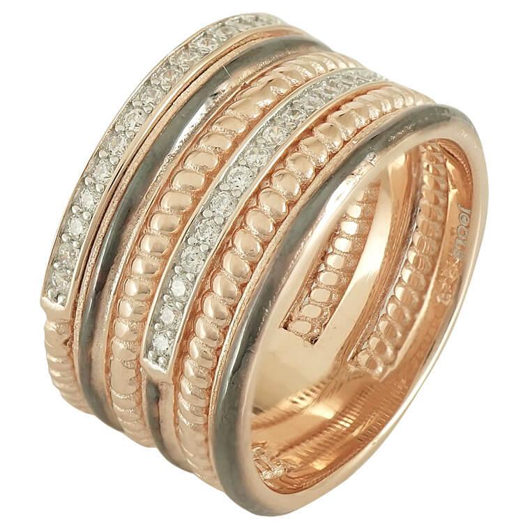 Jools Ασημένιο Ροζ Επιχρυσωμένο Δαχτυλίδι TR908333.1