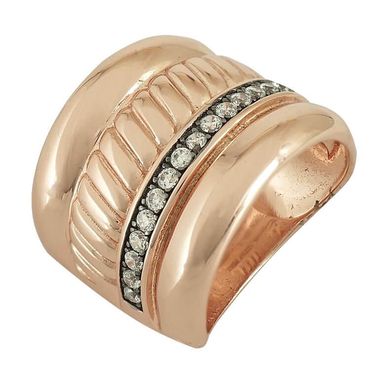 Jools Ασημένιο Ροζ Επιχρυσωμένο Δαχτυλίδι JR1052.3