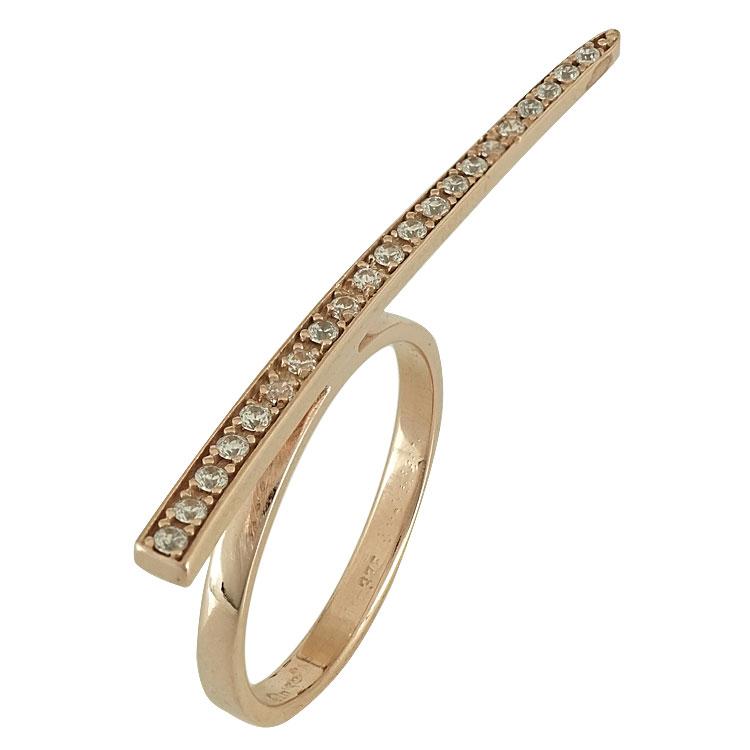 Ροζ Χρυσό Δαχτυλίδι Minimal Row K9 DX587