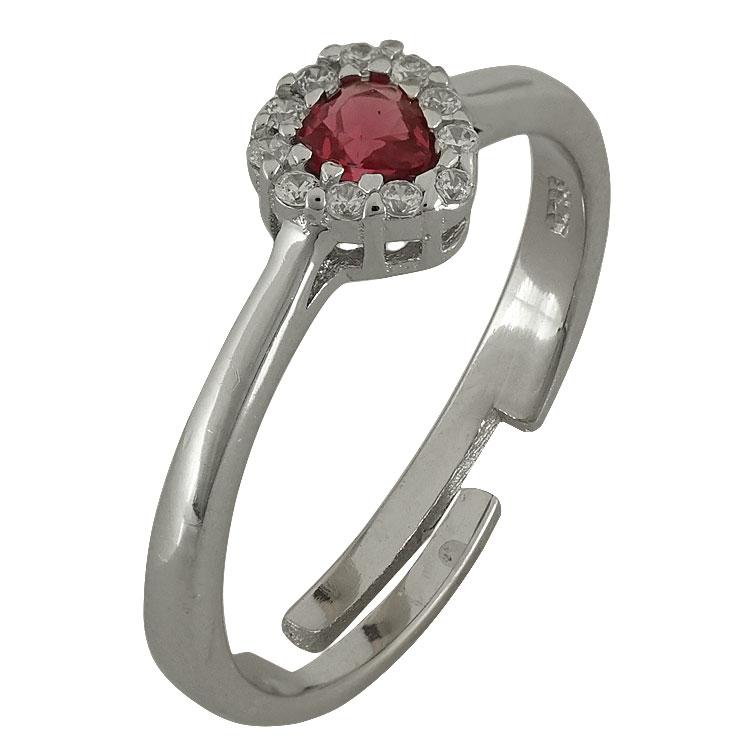 Ασημένιο Δαχτυλίδι Ροζέτα DX565