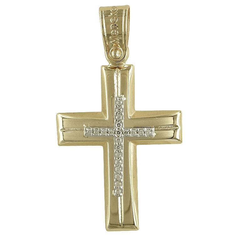 Σταυρός βάπτισης Κ14 κίτρινος