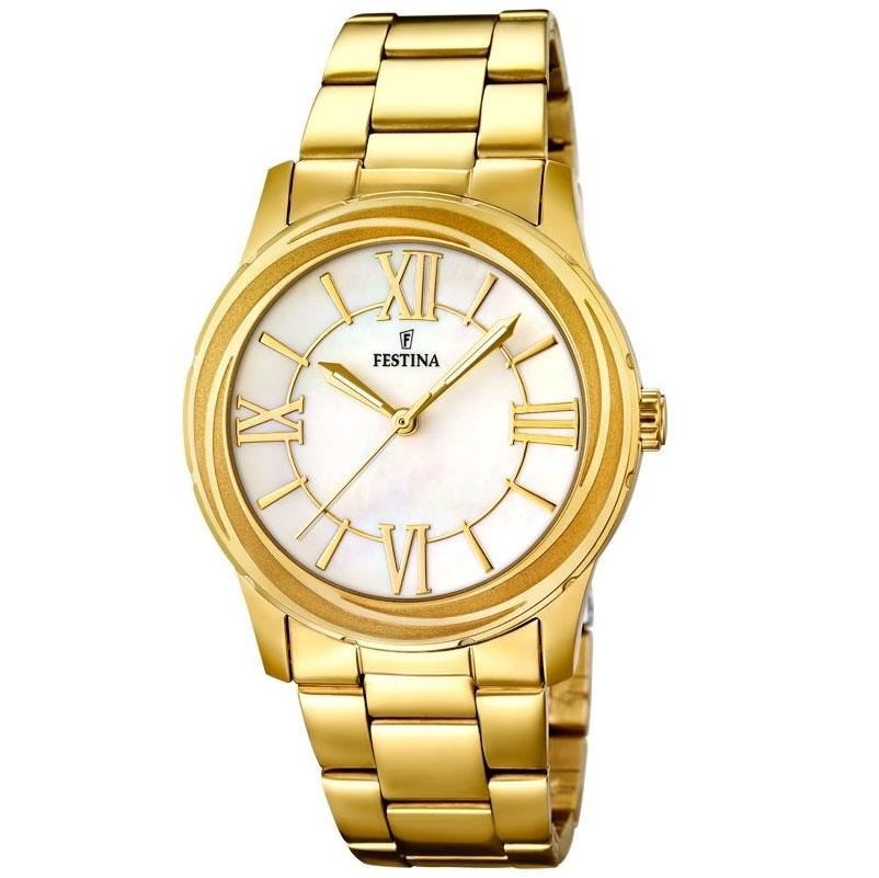 Festina Ladies Gold Stainless Steel Bracelet F16724-1