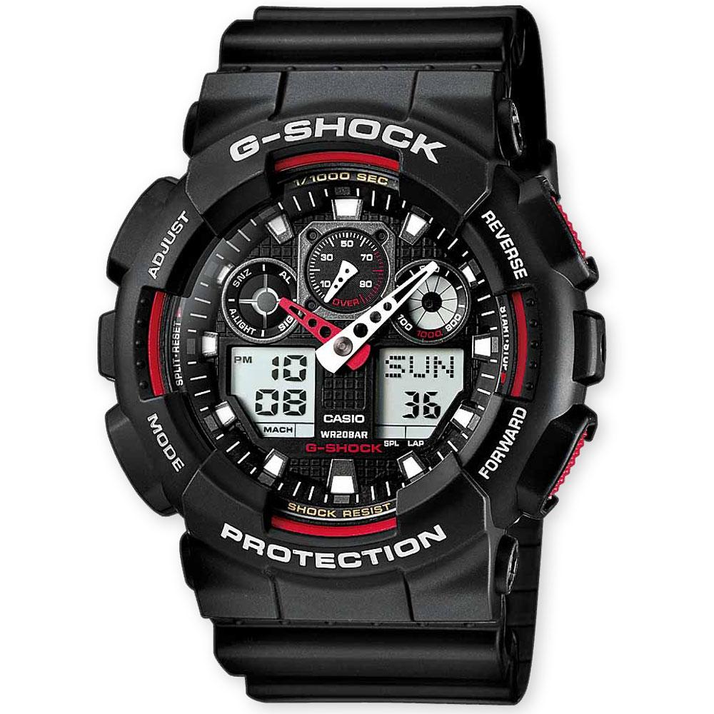 CASIO G-SHOCK Anadigi Black Rubber Strap GA-100-1A4ER