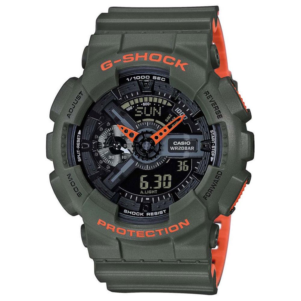 CASIO G-Shock Khaki Rubber Strap GA-110LN-3AER