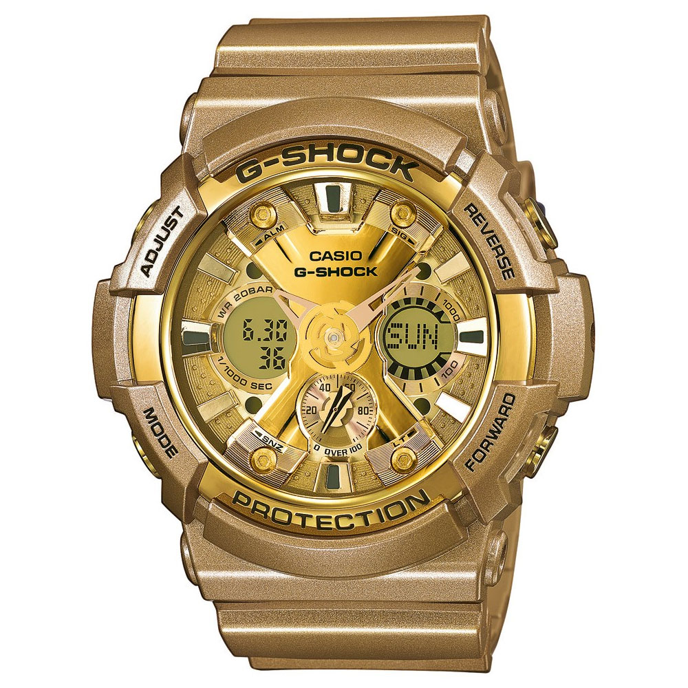CASIO G-SHOCK Anadigi Gold Rubber Strap GA-200GD-9AER
