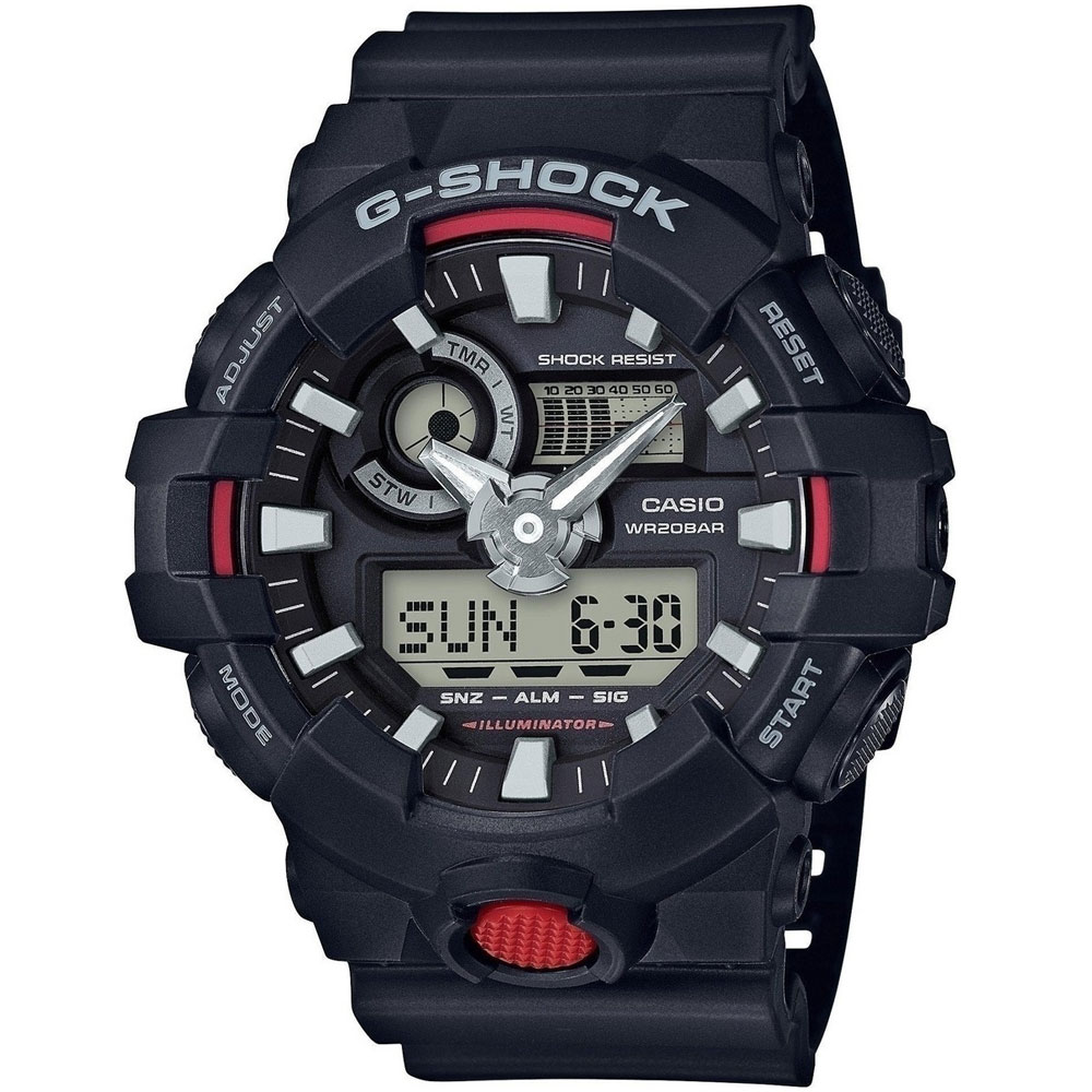 CASIO G-Shock Black Rubber Strap GA-700-1AER