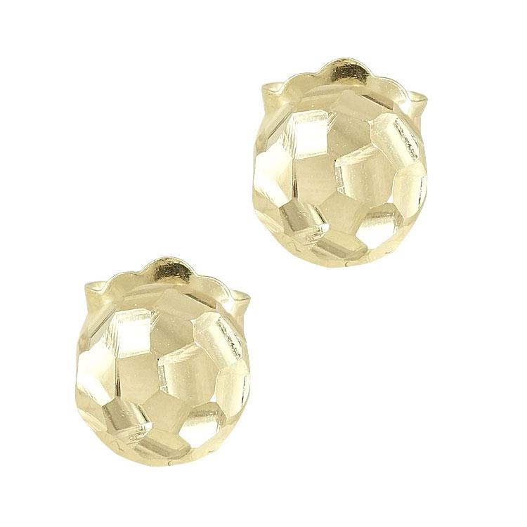Κίτρινα Χρυσά Σκουλαρίκια Φούσκες Κ14 SK77941