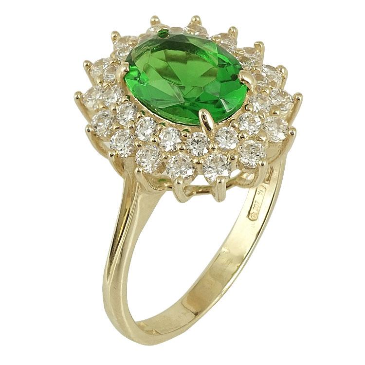 Κίτρινο Χρυσό Δαχτυλίδι Ροζέτα Κ14 DX79325