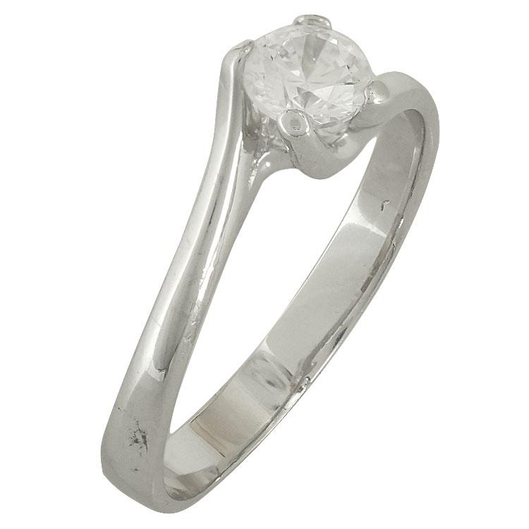 Λευκόχρυσο Δαχτυλίδι Μονόπετρο Κ14 DX83381