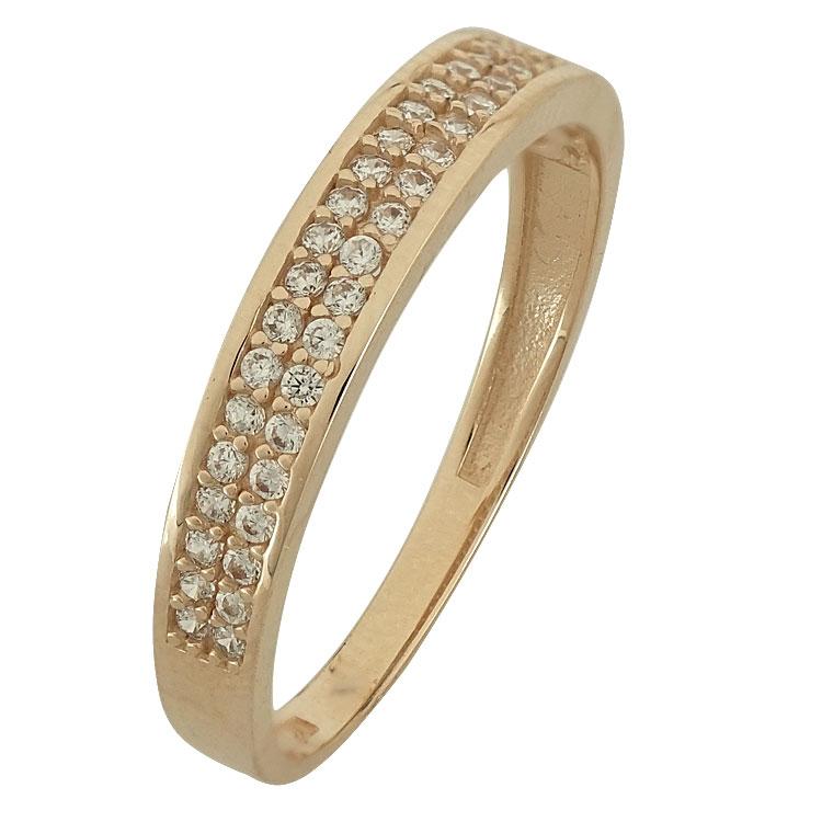 Ροζ Χρυσό Μισόβερο Δαχτυλίδι Κ14 DX86109  cb0bf5e7d65