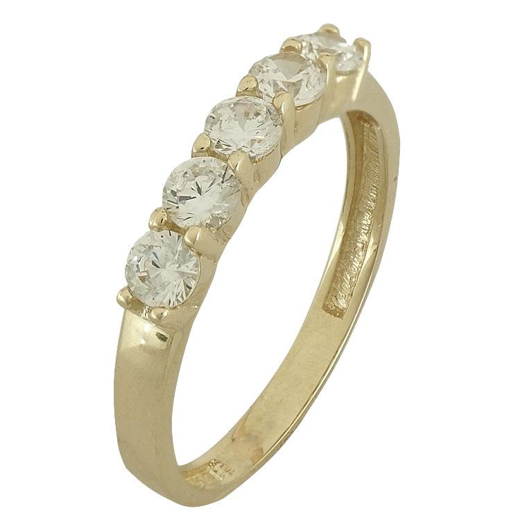 Κίτρινο Χρυσό Σειρέ Δαχτυλίδι Κ14 DX86186