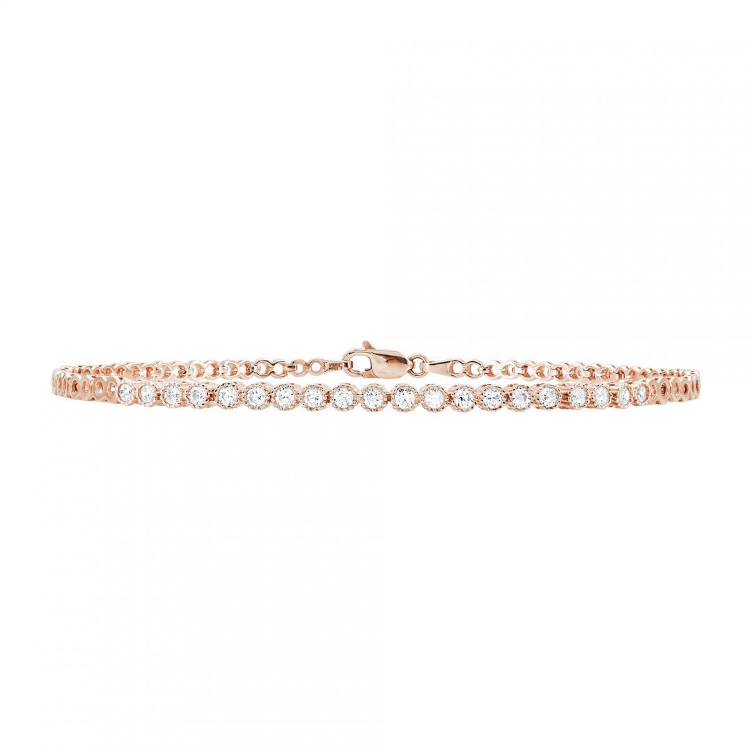 Ροζ Χρυσό Βραχιόλι Ριβιέρα Κ14 VR362