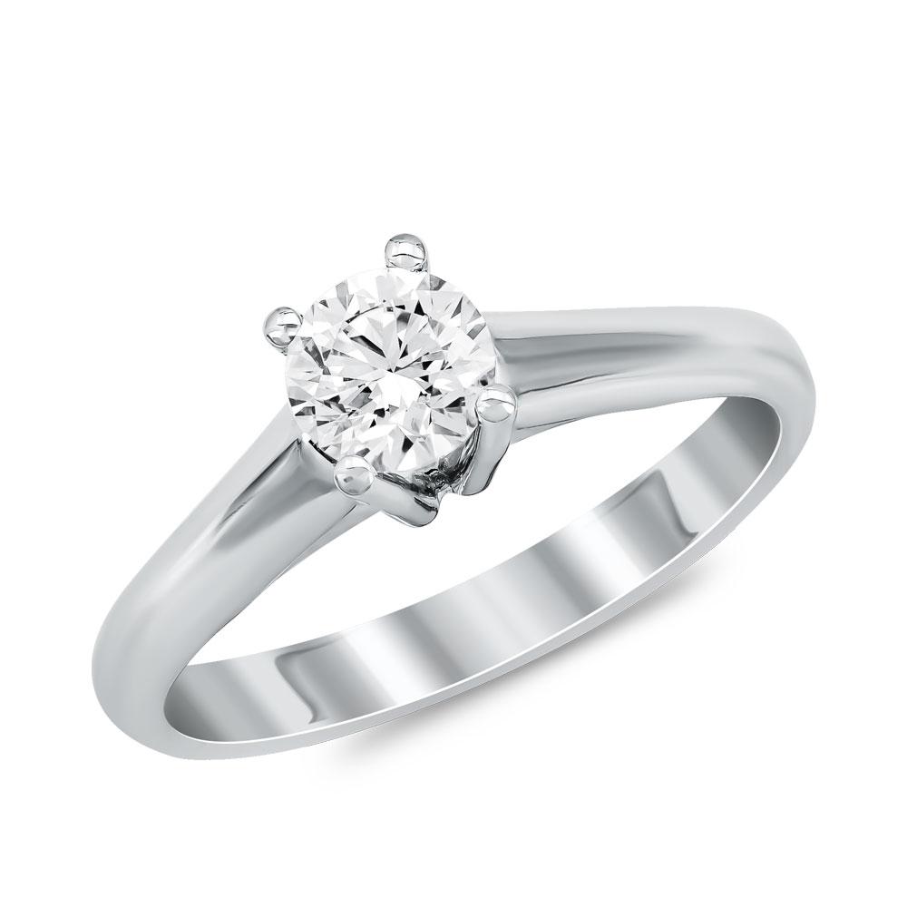 Μονόπετρο Δαχτυλίδι Κ18 με Διαμάντι Brilliant DDX204