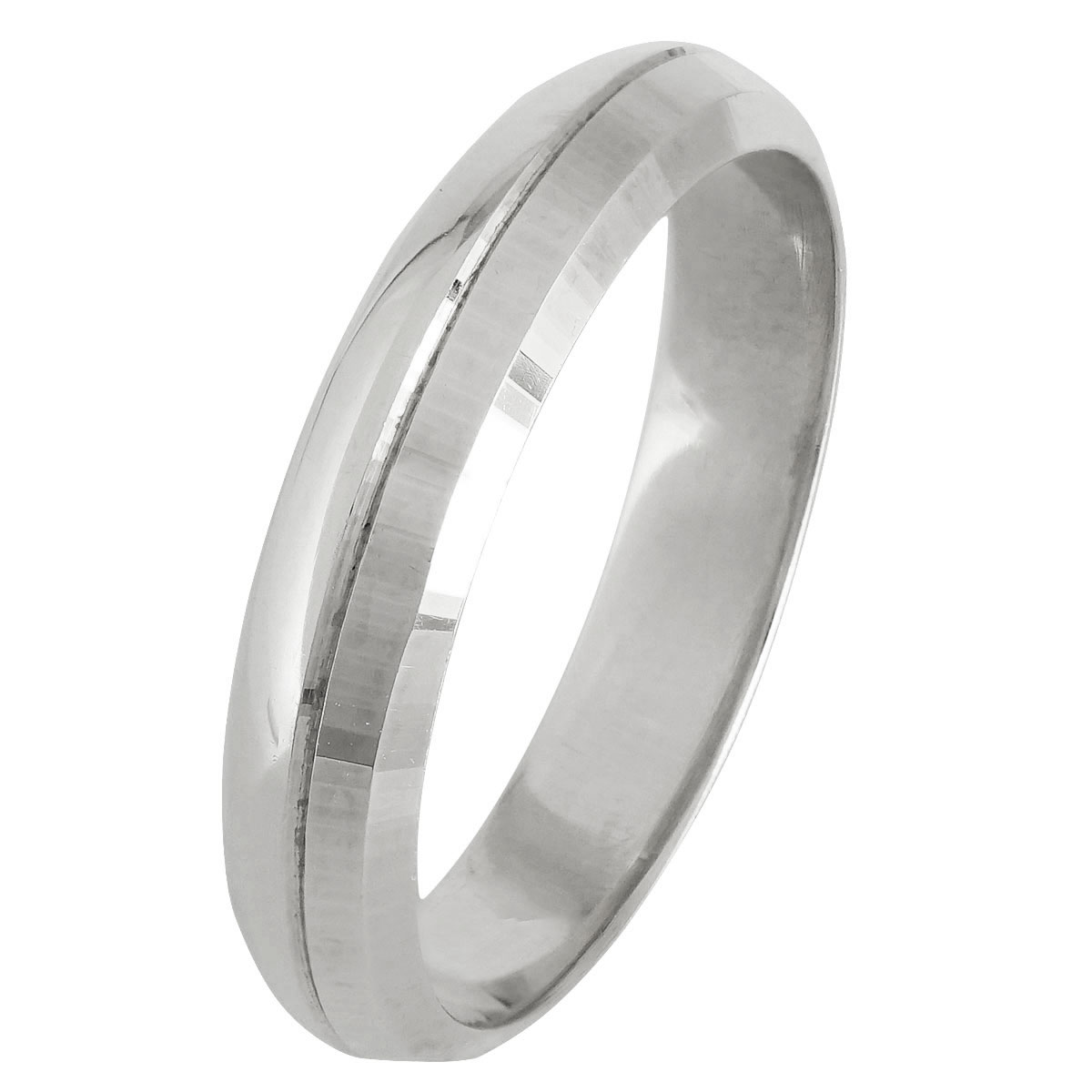 Λευκόχρυση Βέρα Γάμου WR247W
