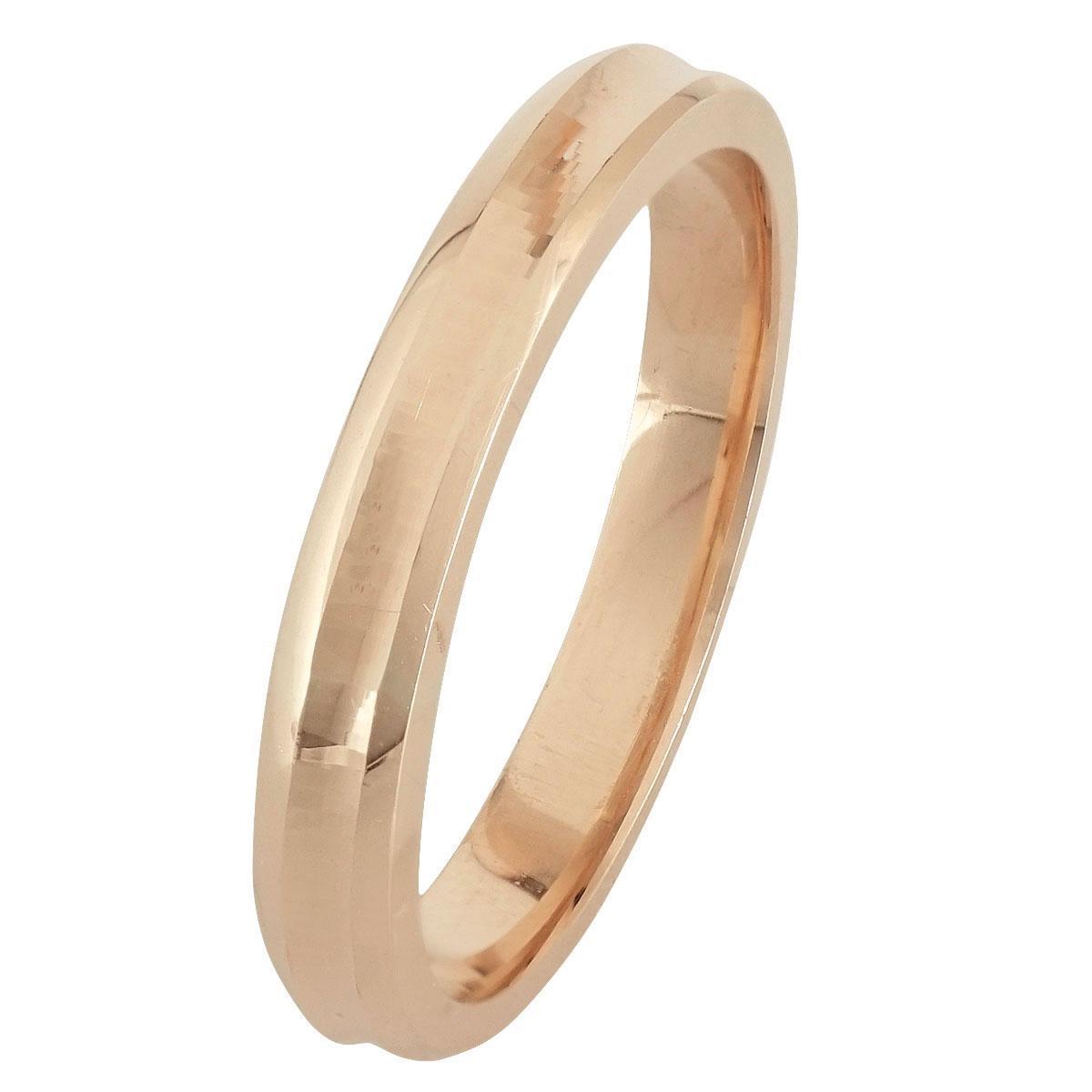 Ροζ Χρυσή Βέρα Γάμου WR244R