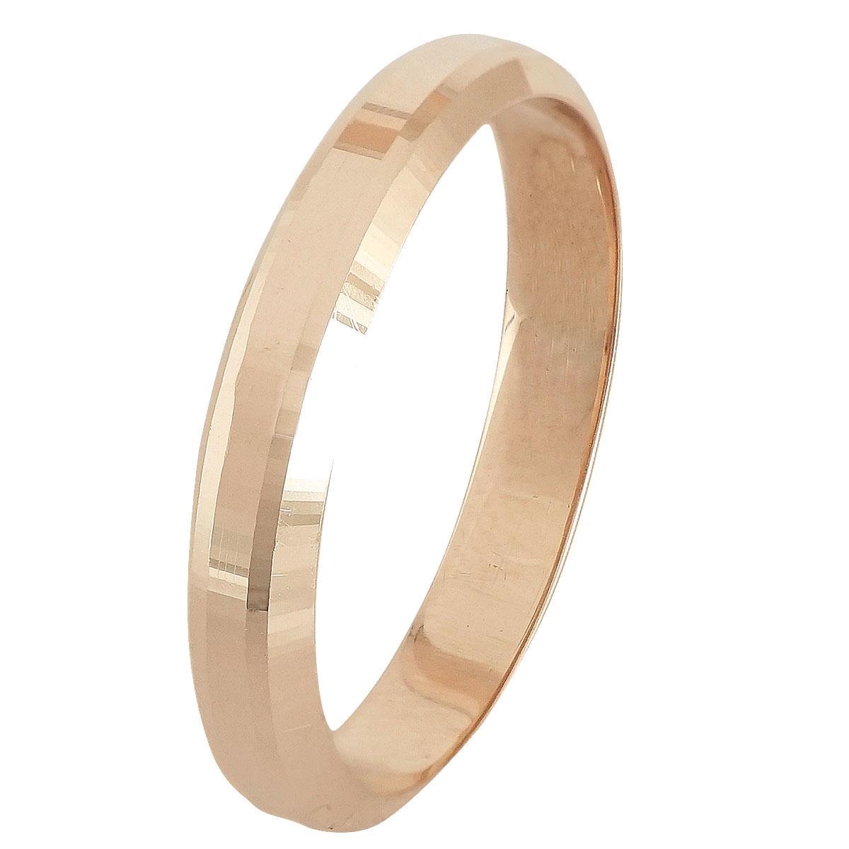 Ροζ Χρυσή Βέρα Γάμου WR245R