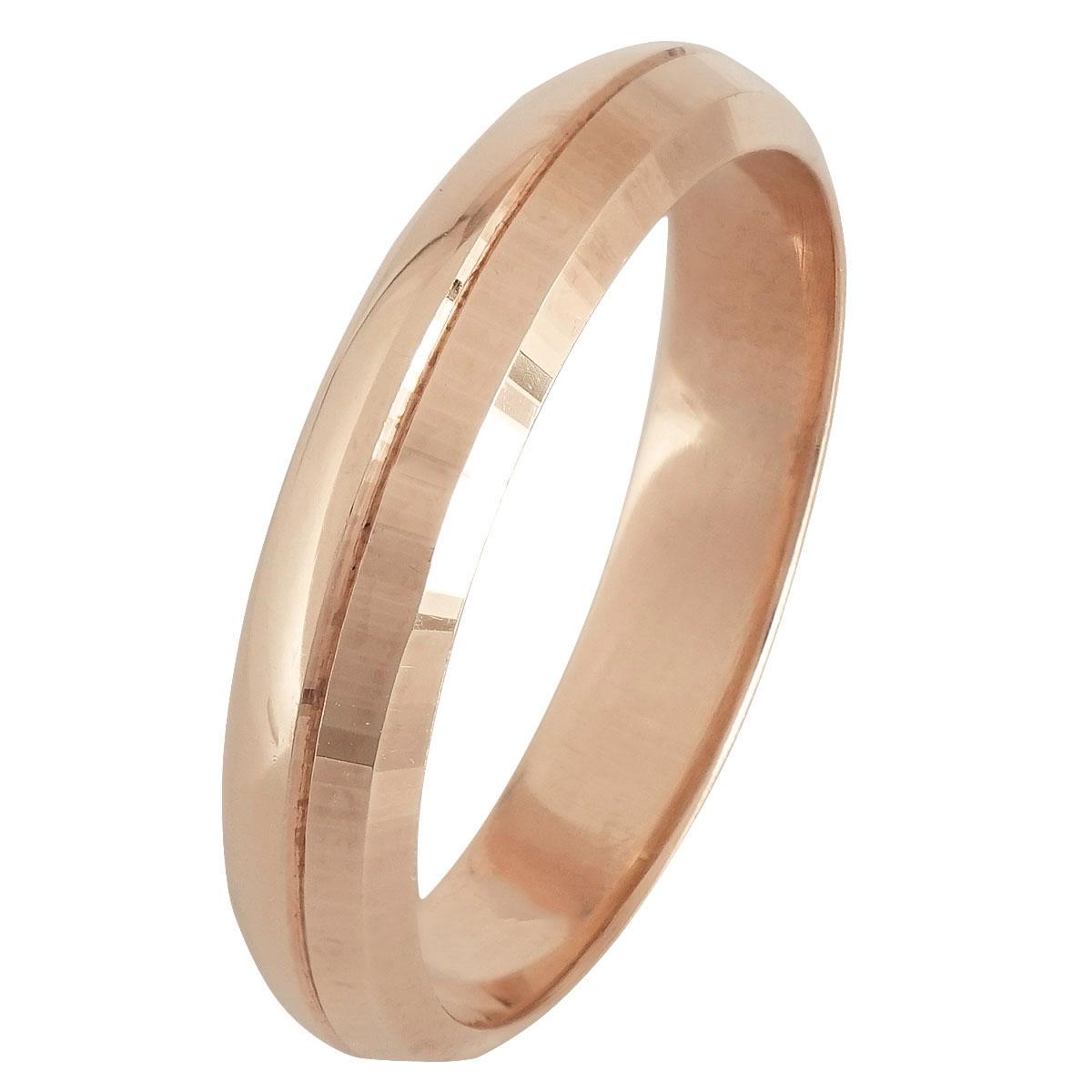Ροζ Χρυσή Βέρα Γάμου WR247R