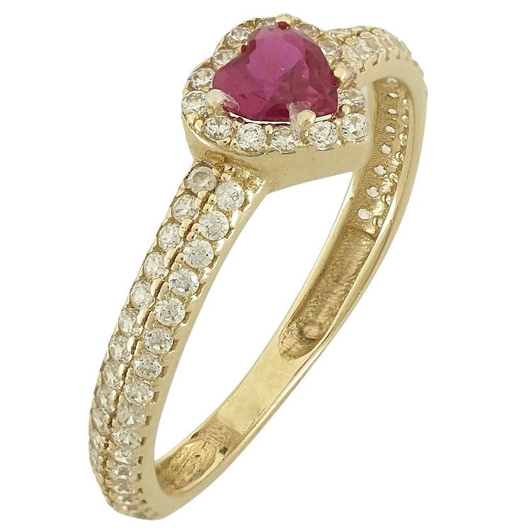 Κίτρινο Χρυσό Δαχτυλίδι Ροζέτα Κ14 DX76764