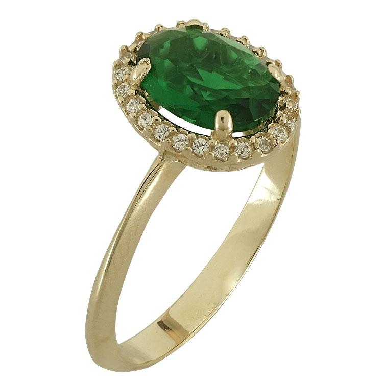Κίτρινο Χρυσό Δαχτυλίδι Ροζέτα Κ14 DX77637