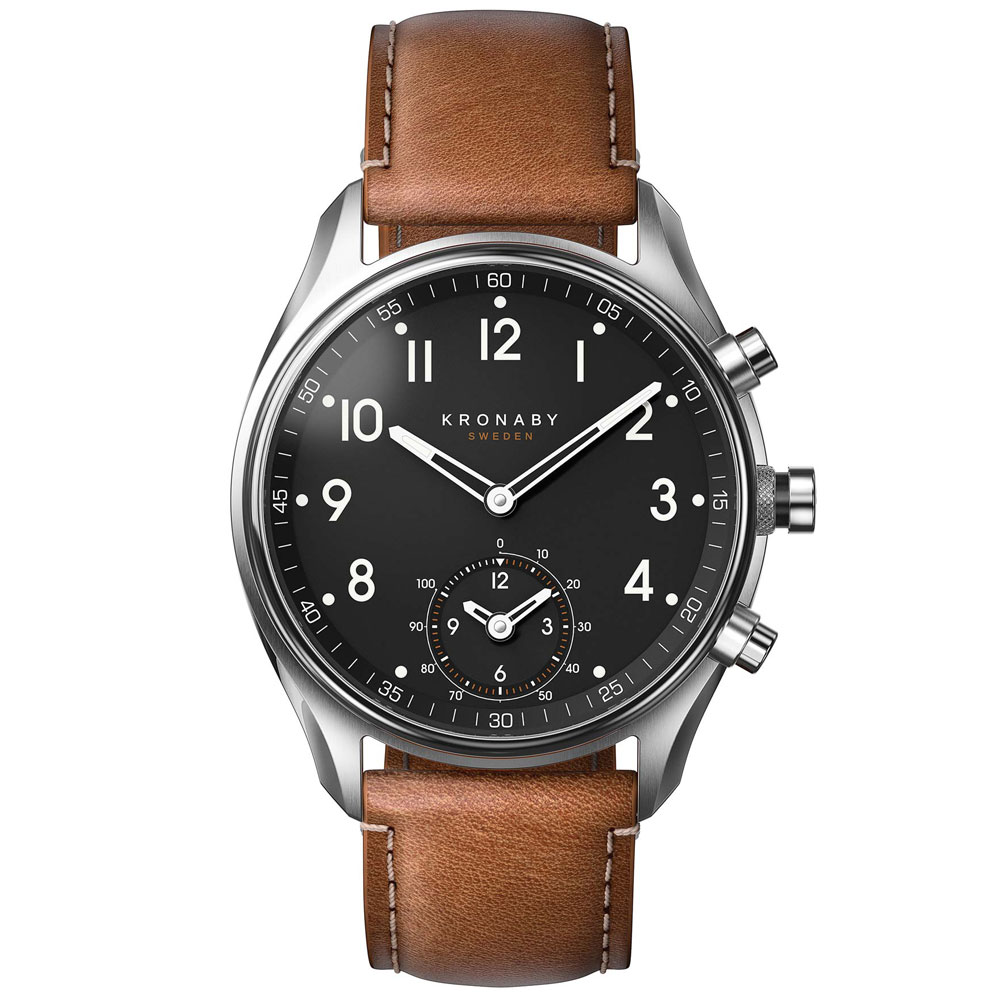 KRONABY Smart-Watch Apex Brown Leather Strap A1000-0729