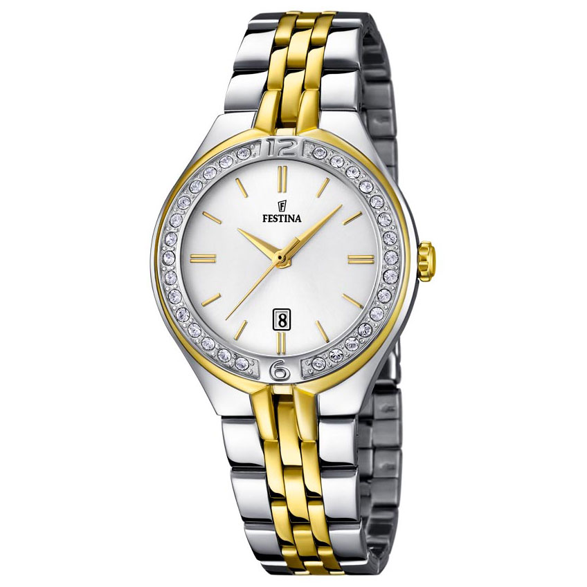 FESTINA Mademoiselle Crystals Two Tone Stainless Steel Bracelet F16868-1