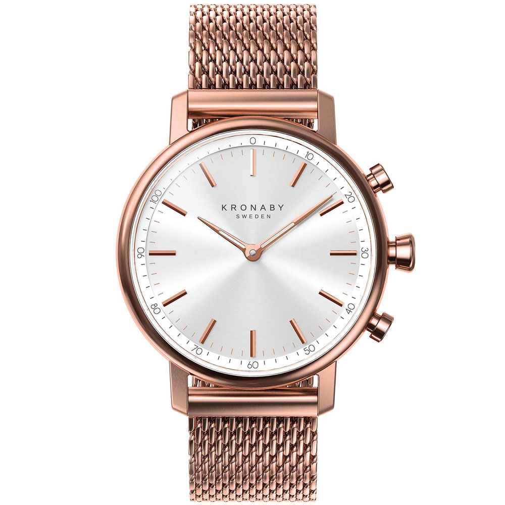 KRONABY Smart-Watch Carat Rose Gold Stainless Steel Bracelet A1000-1400